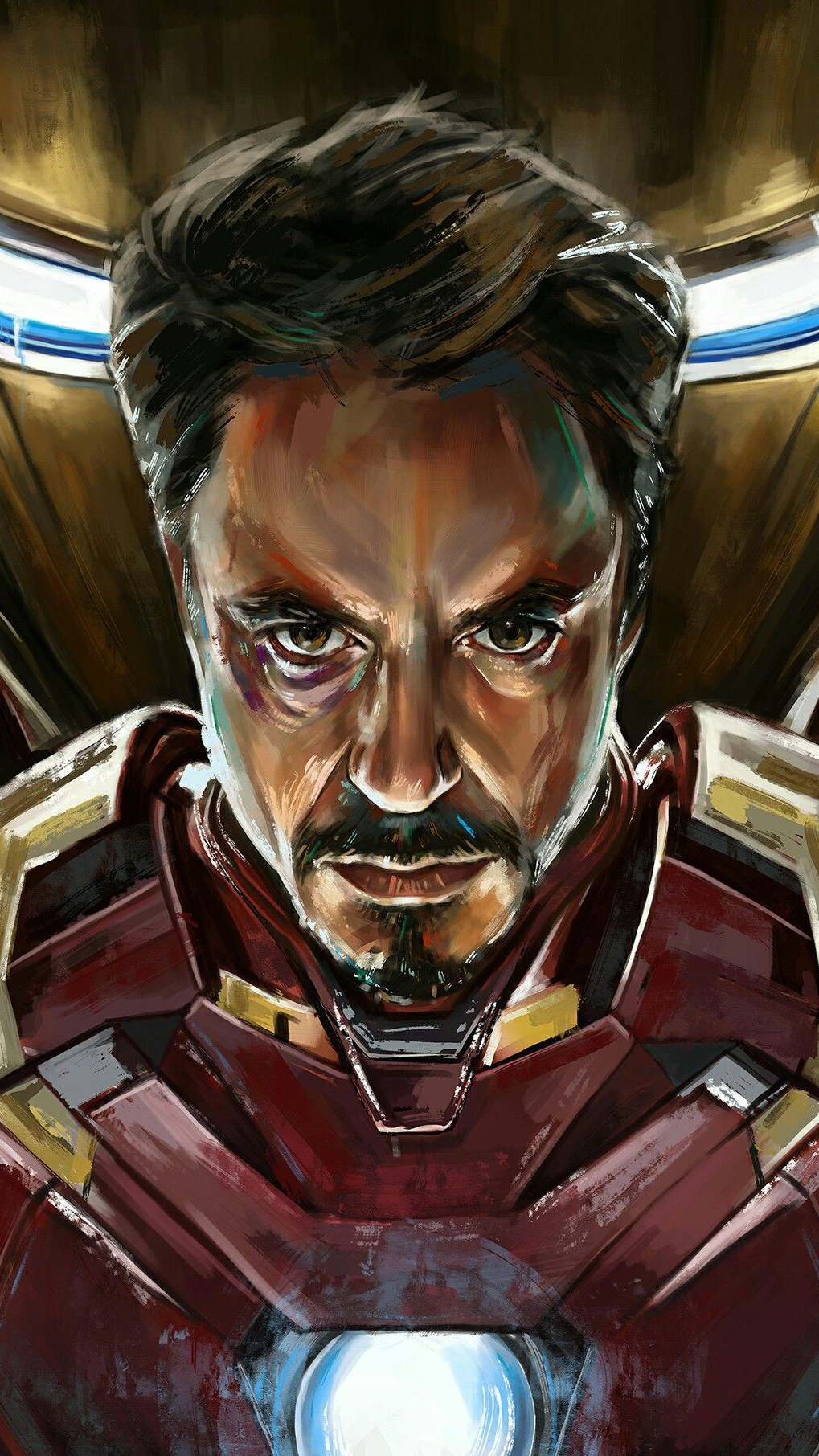 Tony Stark Iron Man Armour iPhone Wallpaper