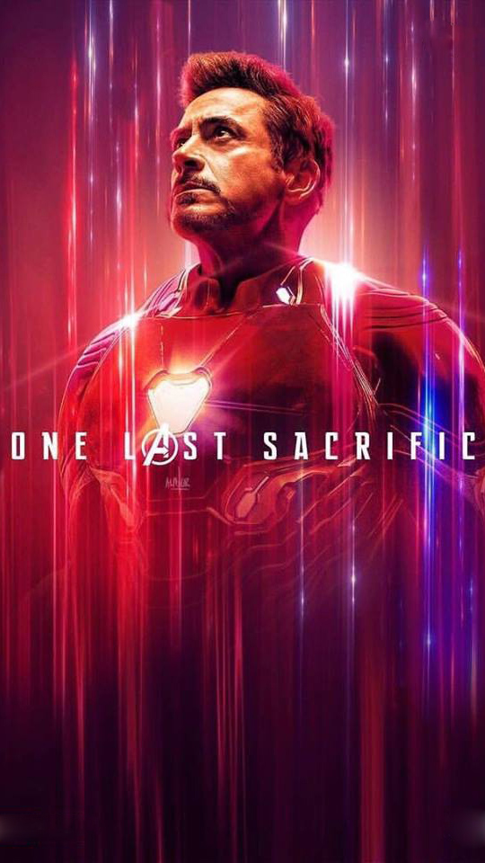 Tony Stark Sacrifice Avengers Endgame iPhone Wallpaper