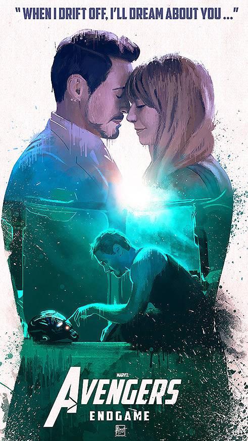 Tony Stark and Pepper Potts Avengers Endgame iPhone Wallpaper