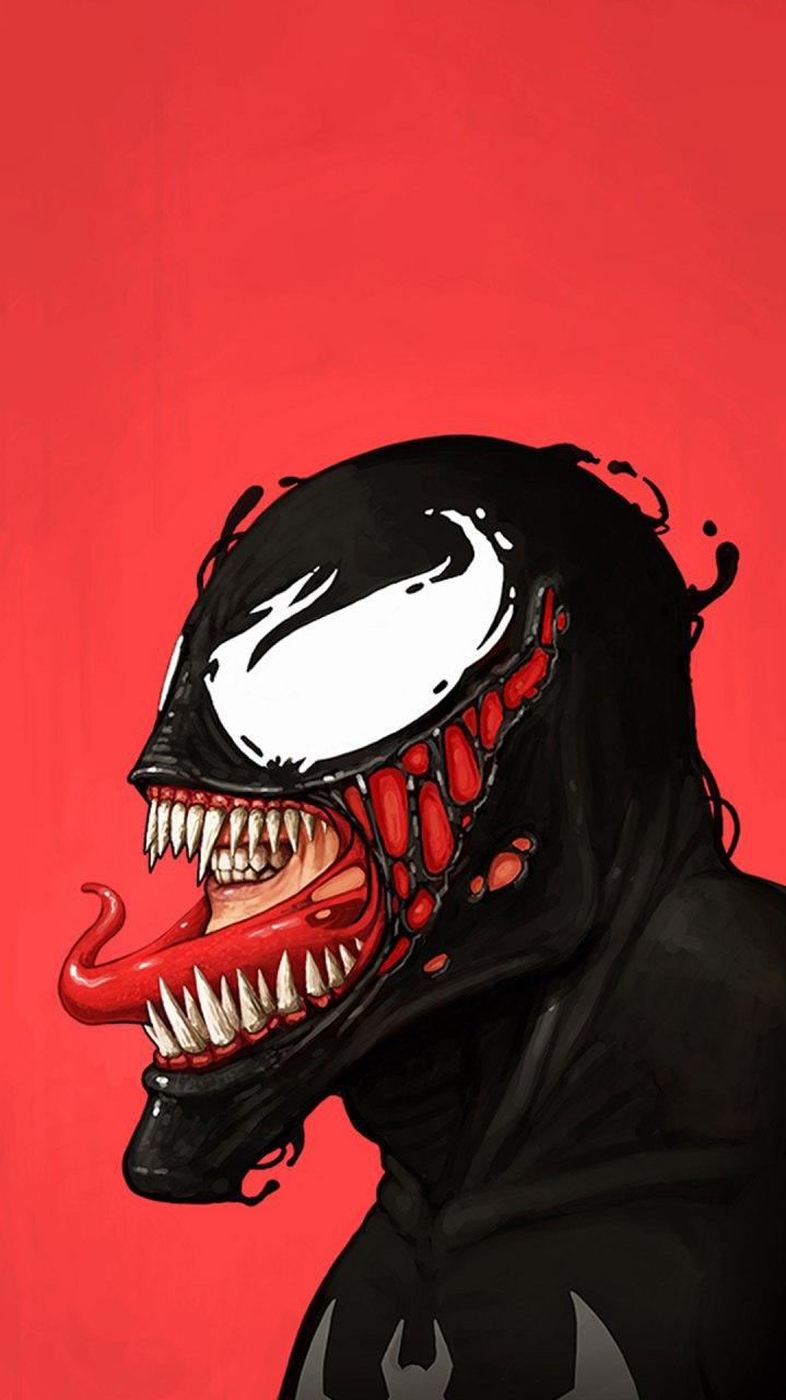 Venom Art Minimal iPhone Wallpaper