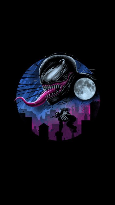 Venom Dark Movie Art iPhone Wallpaper