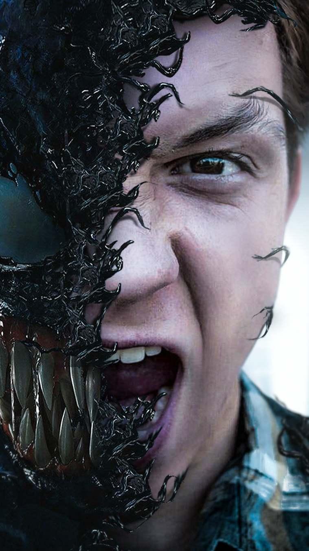Venom vs Peter Parker iPhone Wallpaper
