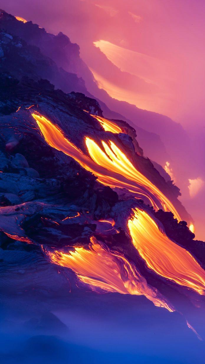 Volcano eruption iPhone Wallpaper