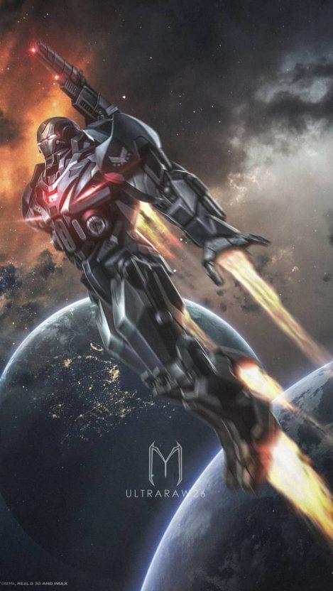 War Machine Avengers Endgame iPhone Wallpaper