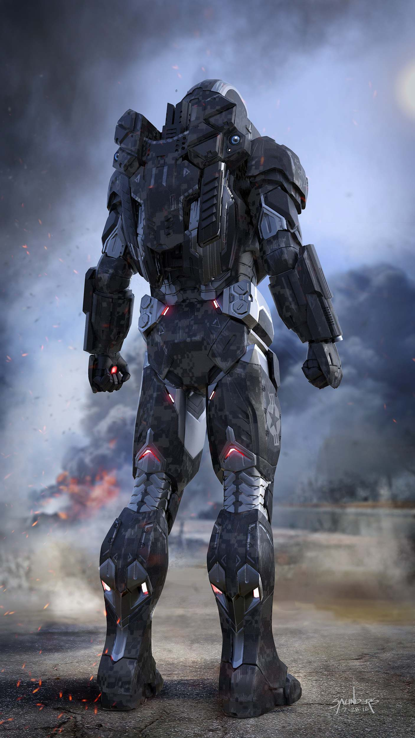 War Machine Mark 4 iPhone Wallpaper