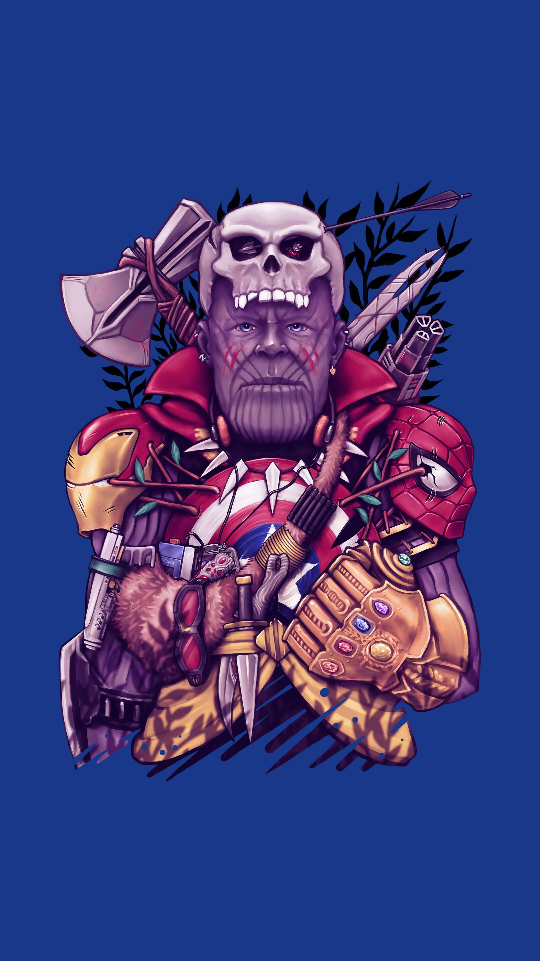 Wild Thanos iPhone Wallpaper