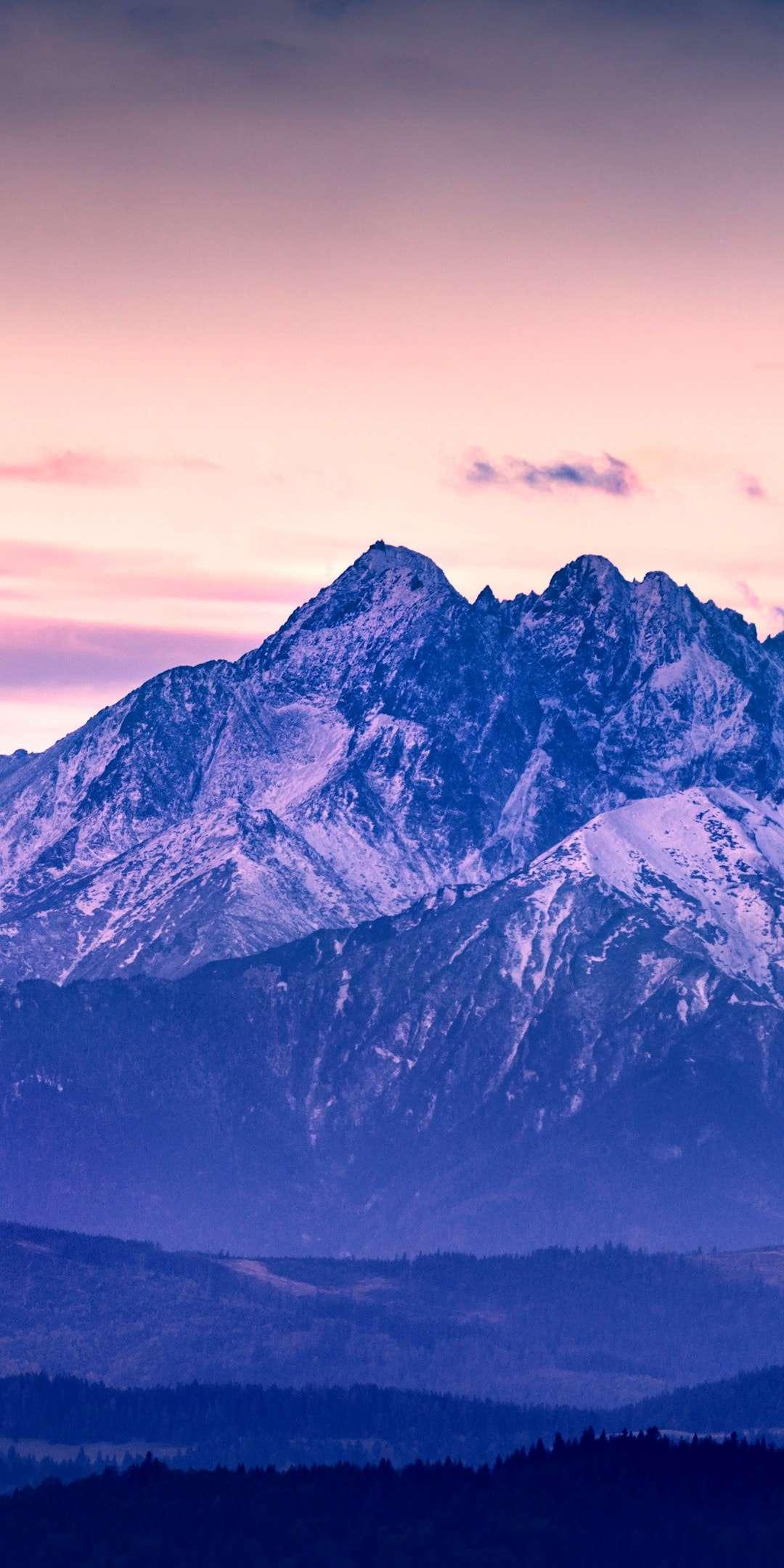 Winter Snow Mountain Nature HD iPhone Wallpaper