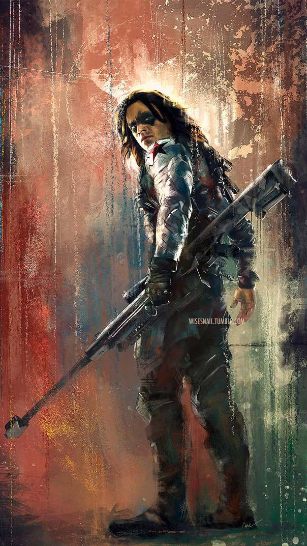 Winter Soldier Art iPhone Wallpaper