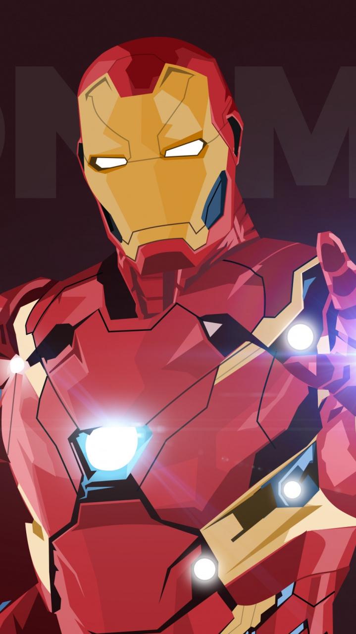 iron man minimal iPhone Wallpaper