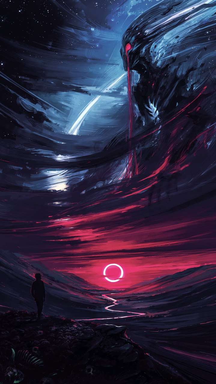 Alien Planet iPhone Wallpaper