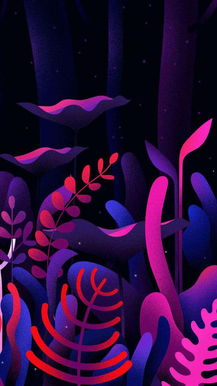 Amoled Nature Plants iPhone Wallpaper