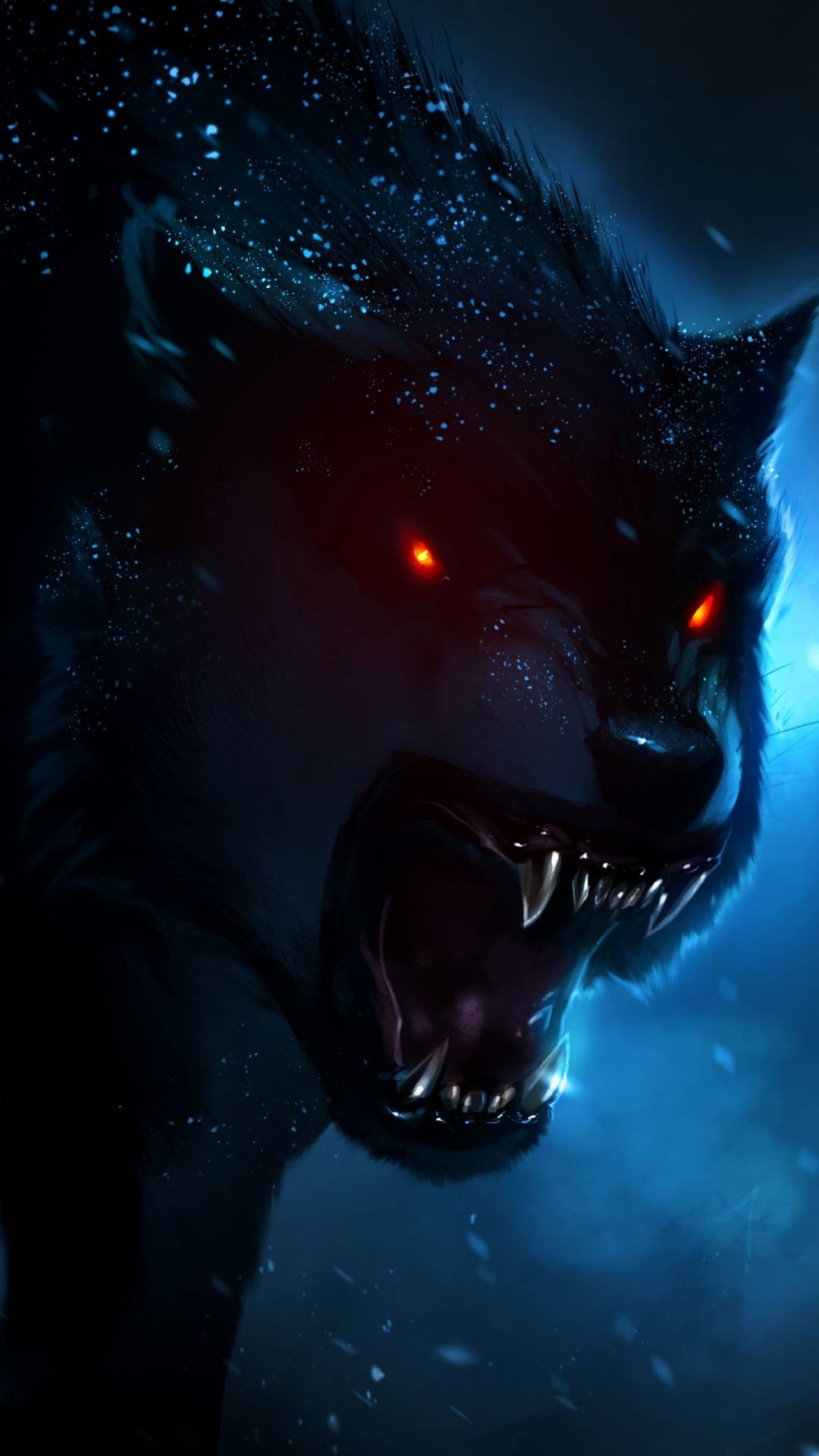 Angry Wolf iPhone Wallpaper