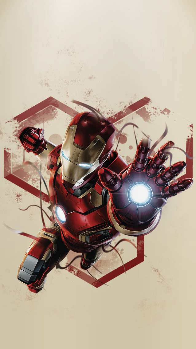 Artwork Iron Man iPhone Wallpaper
