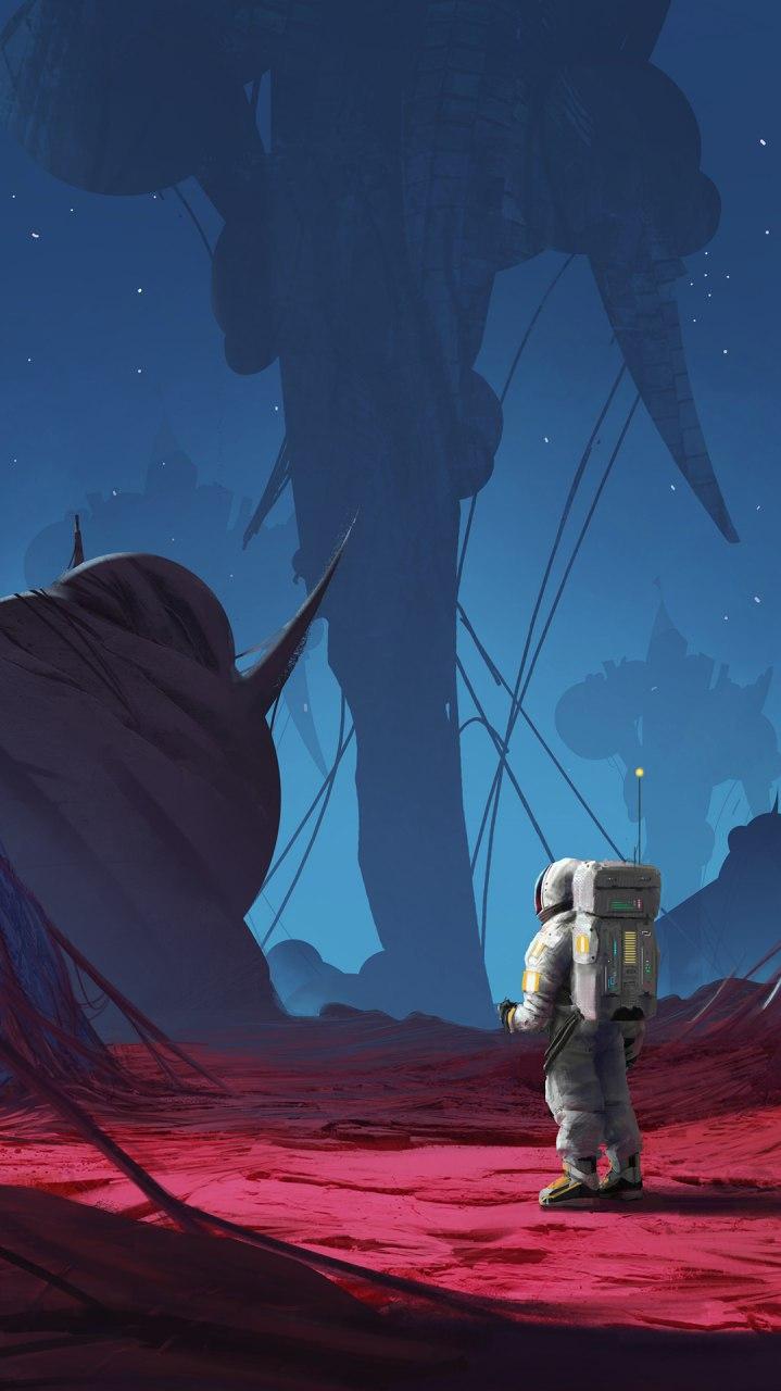 Astronaut Planet Mars iPhone Wallpaper