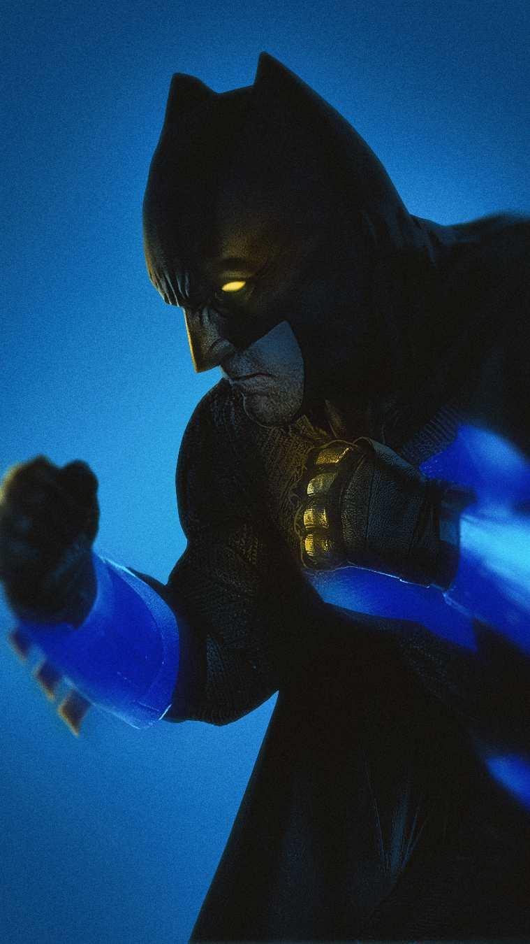 Batman Fighting iPhone Wallpaper