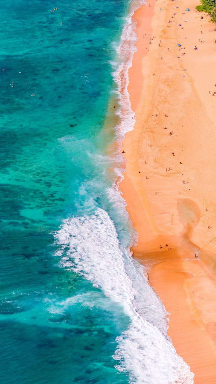 Beach Peoples Nature Drone View Iphone Wallpaper Iphone