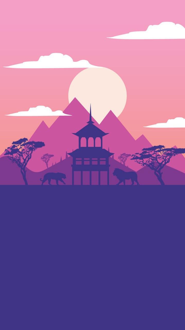 Big Cats Forest iPhone Wallpaper