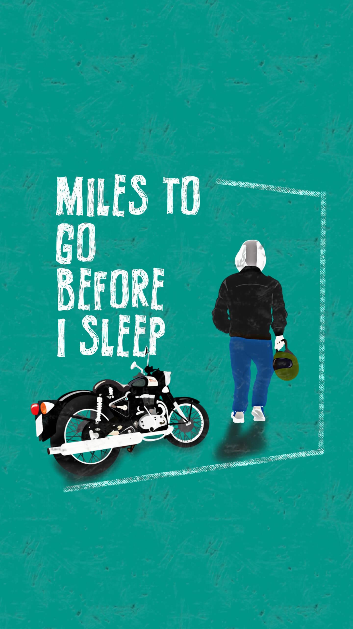 Biker Hustle iPhone Wallpaper