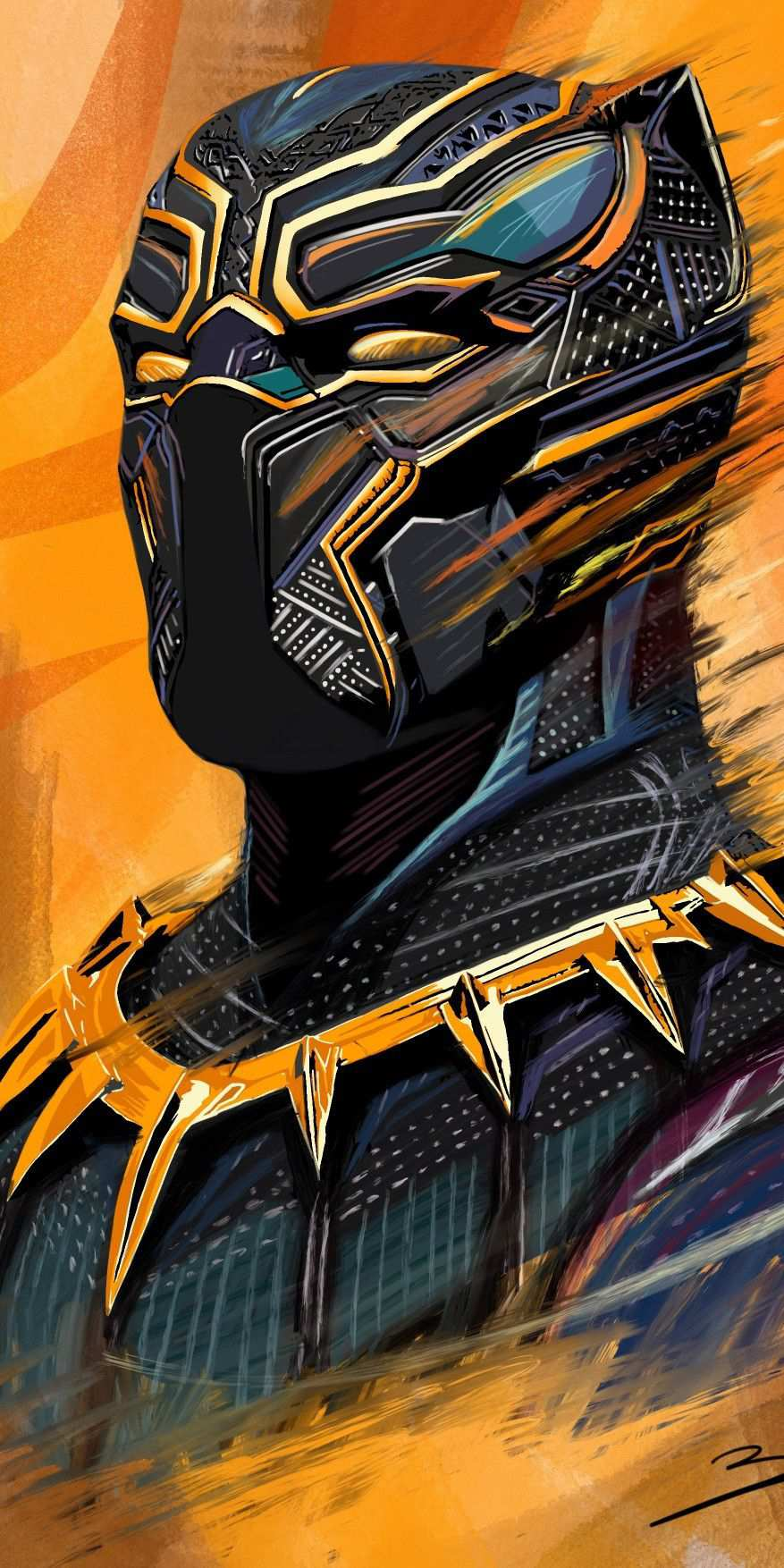 Black Panther Art HD iPhone Wallpaper
