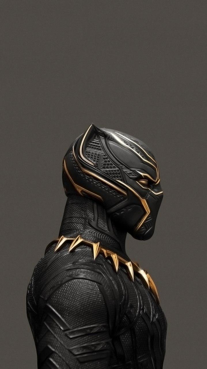 Black Panther Golden Suit iPhone Wallpaper