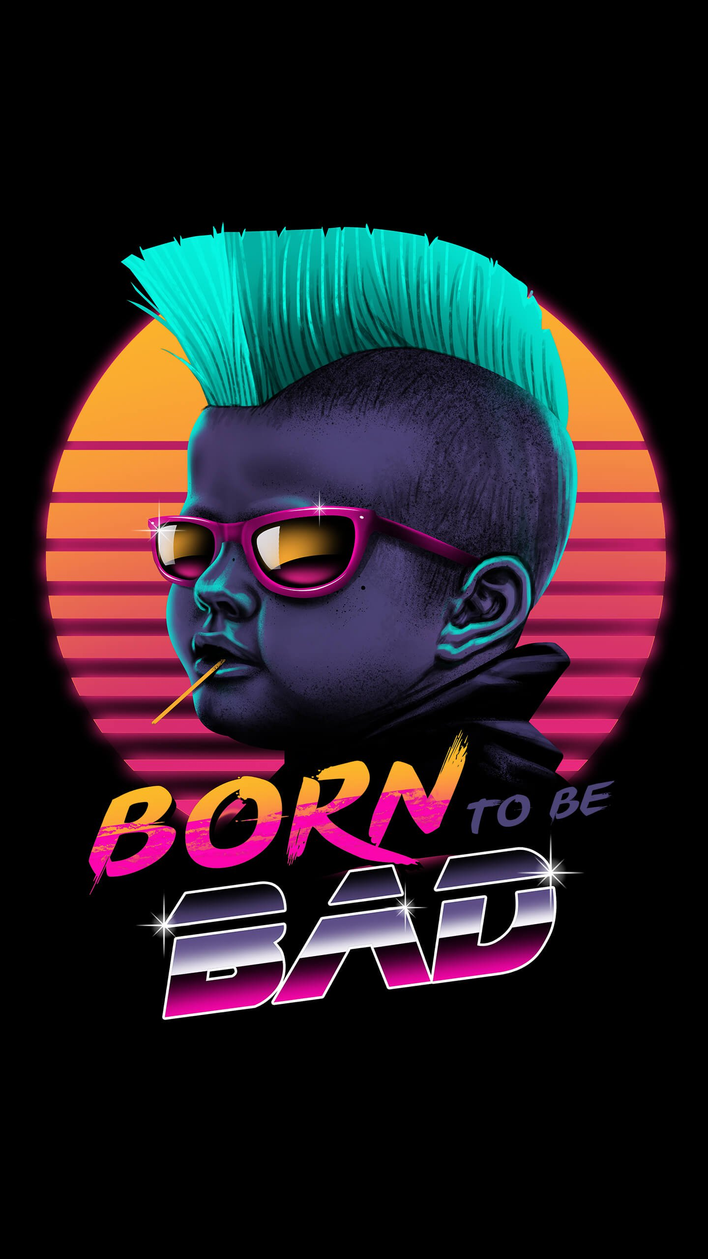 Born to be bad iPhone Wallpaper