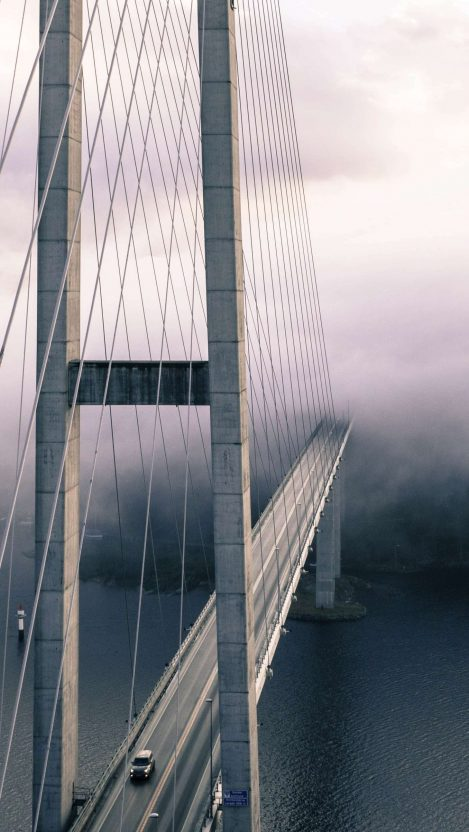Bridge Mist iPhone Wallpaper