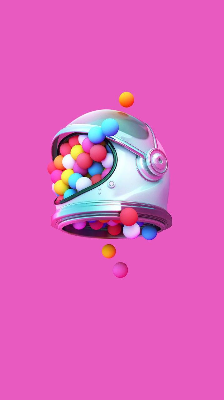 Bubble Astronaut iPhone Wallpaper