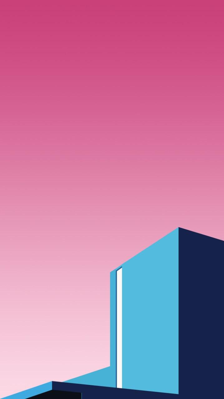 Building Blocks Minimal iPhone Wallpaper