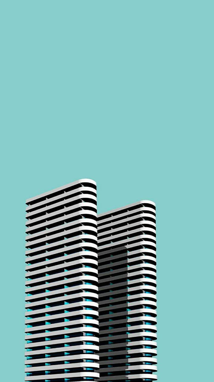 Buildings Simple iPhone Wallpaper