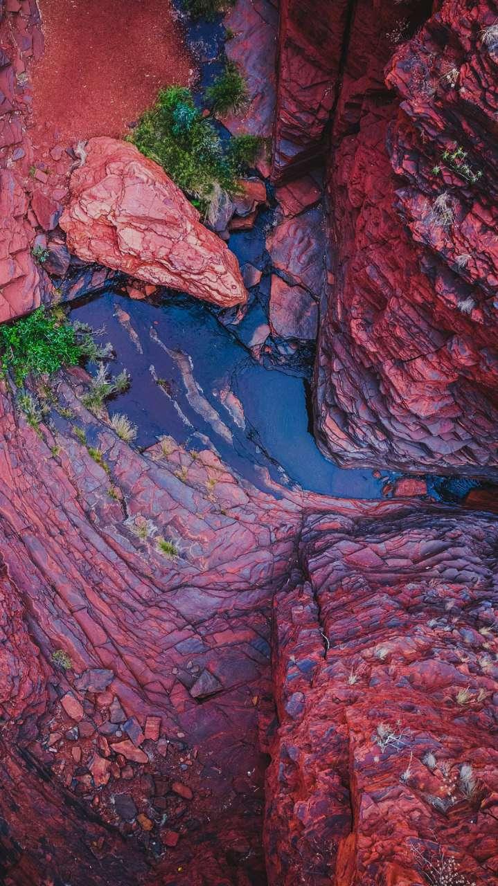 Canyon Rocks Water iPhone Wallpaper