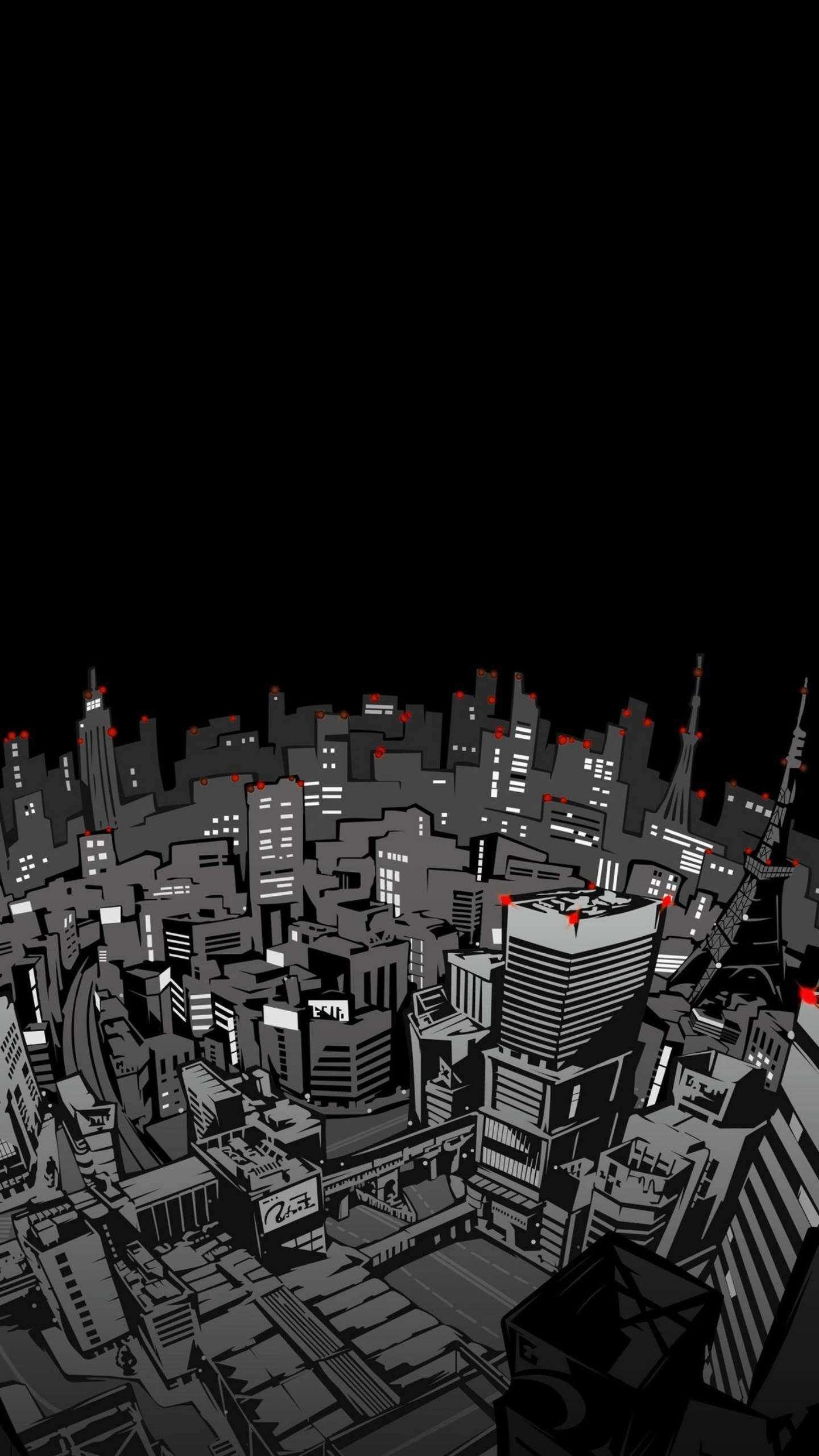 City Art Night iPhone Wallpaper