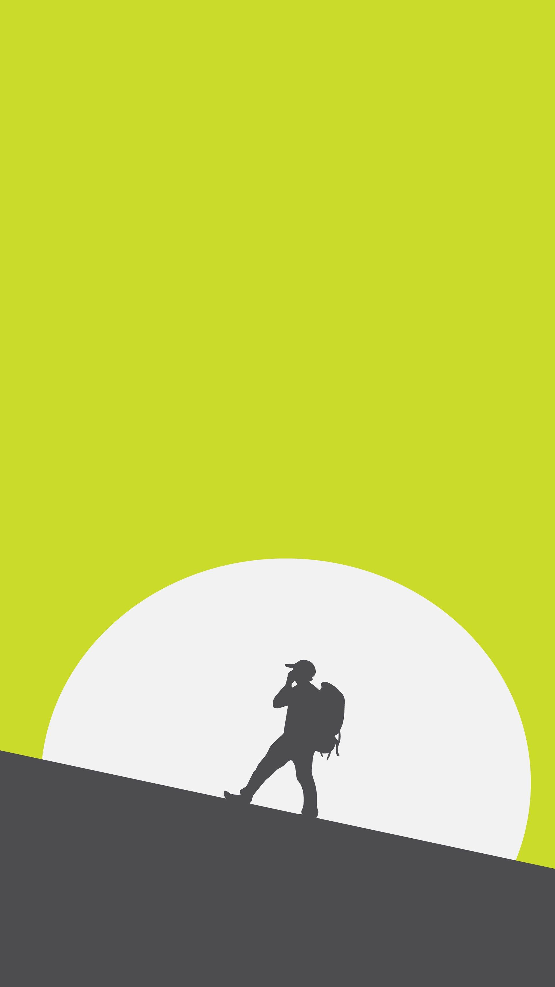 Climber Man iPhone Wallpaper
