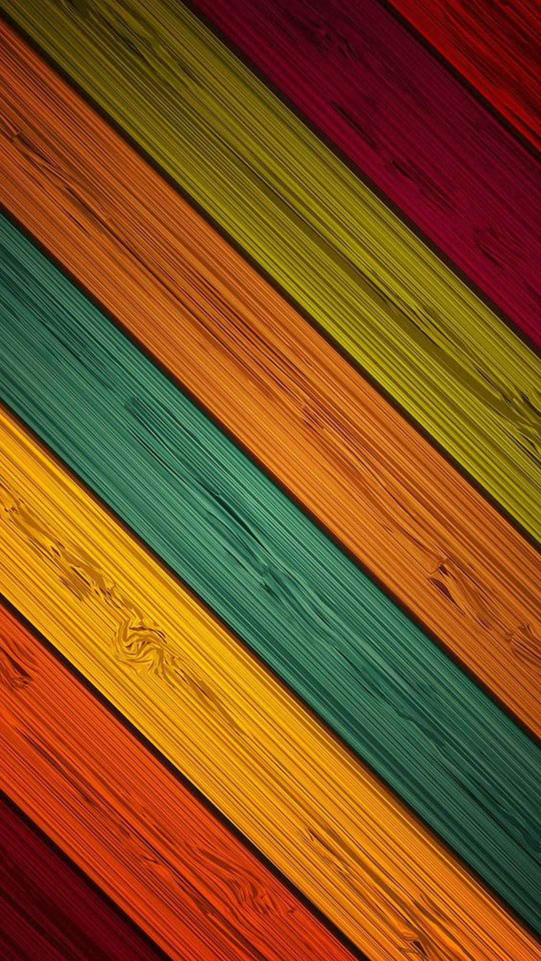 Colour Strips Wood iPhone Wallpaper