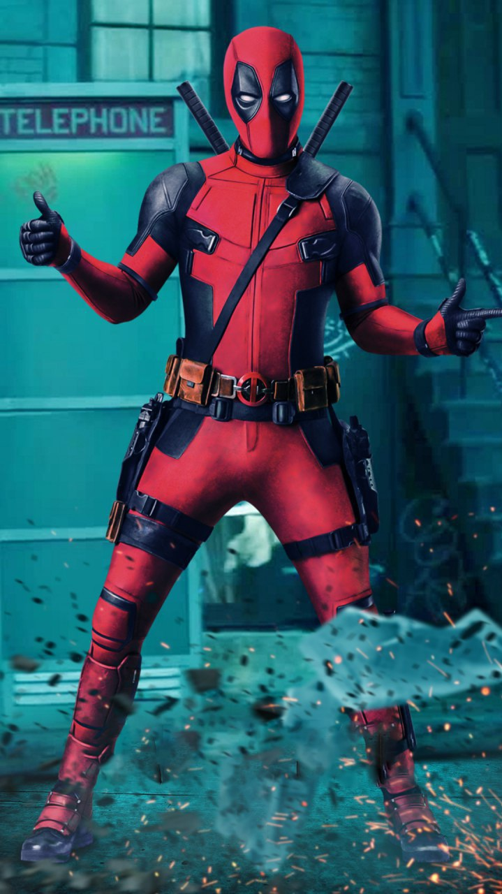 Deadpool Action iPhone Wallpaper