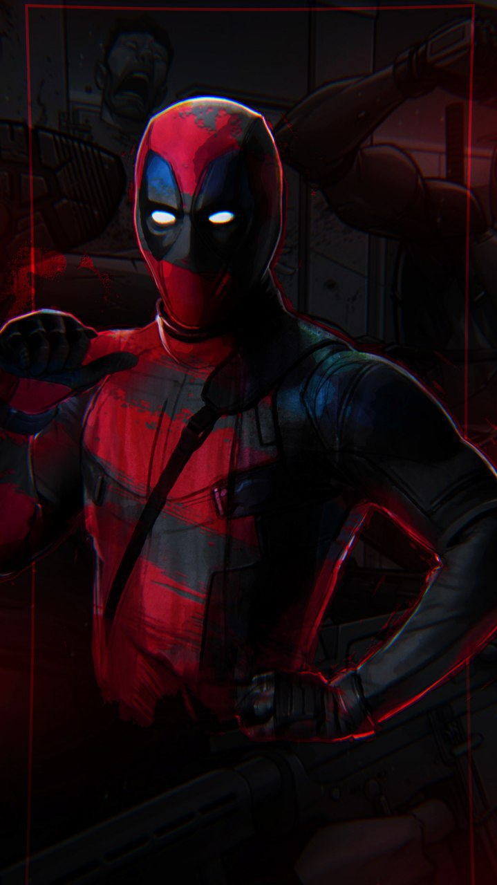 Deadpool Dark iPhone Wallpaper