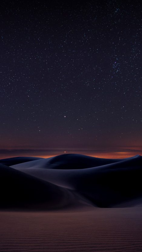 Desert Night Space View iPhone Wallpaper