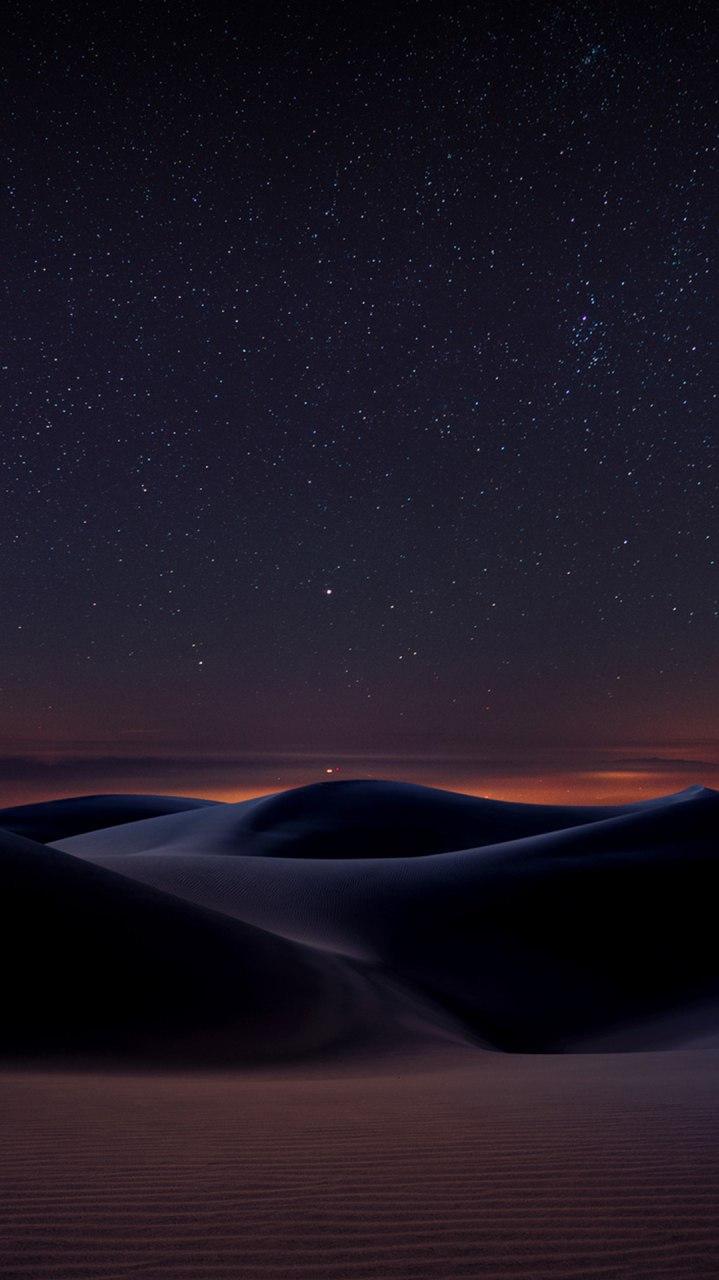 Desert Night Space View iPhone Wallpaper