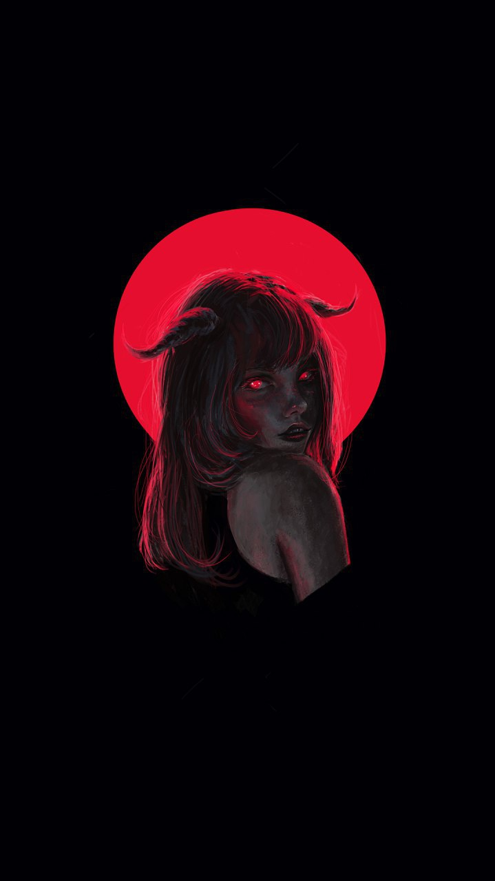 Devil Girl iPhone Wallpaper