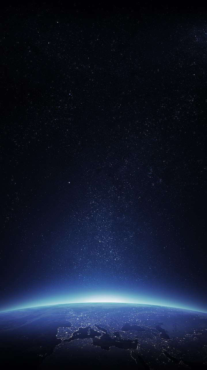 Earth Sunrise Space iPhone Wallpaper