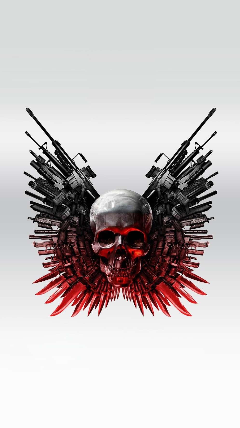 Guns and Skulls iPhone Wallpaper