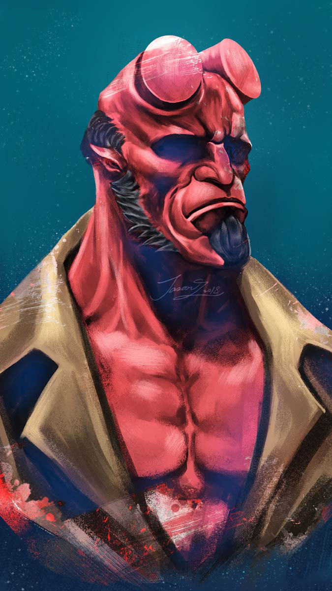 Hellboy Red iPhone Wallpaper