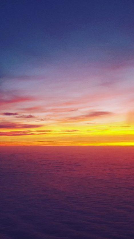 Horizon Sunset Ocean iPhone Wallpaper