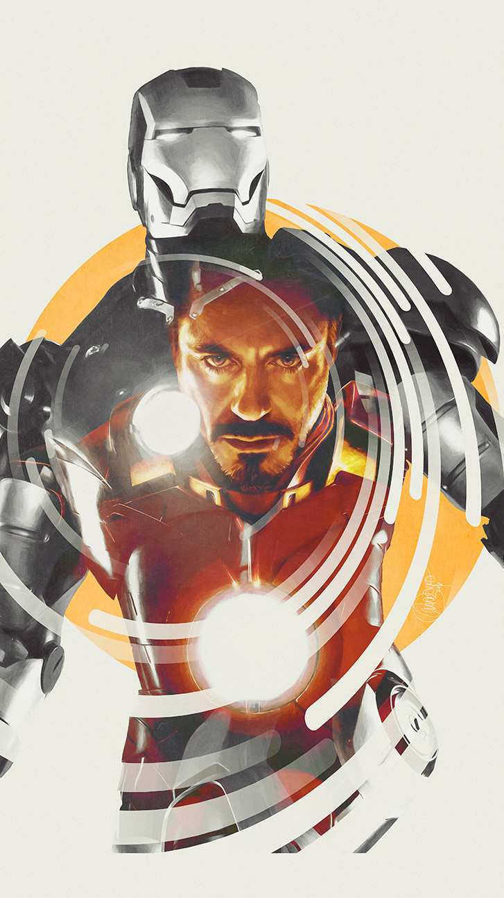 Iron Man Tony Stark Art iPhone Wallpaper
