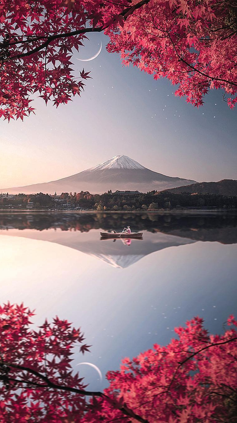 Japan Mount Fuji Nature iPhone Wallpaper