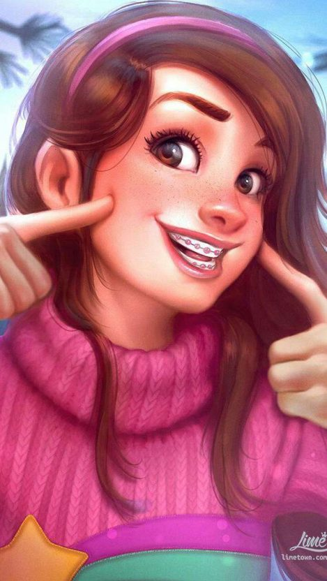 Mabel Girl iPhone Wallpaper