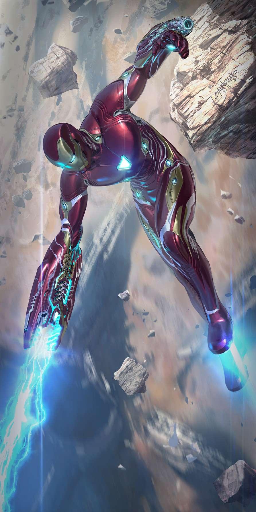 Mark 50 Iron Man Canon Fire iPhone Wallpaper