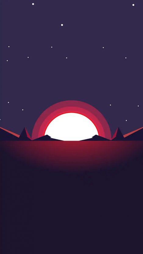 Minimal Sunset HD iPhone Wallpaper