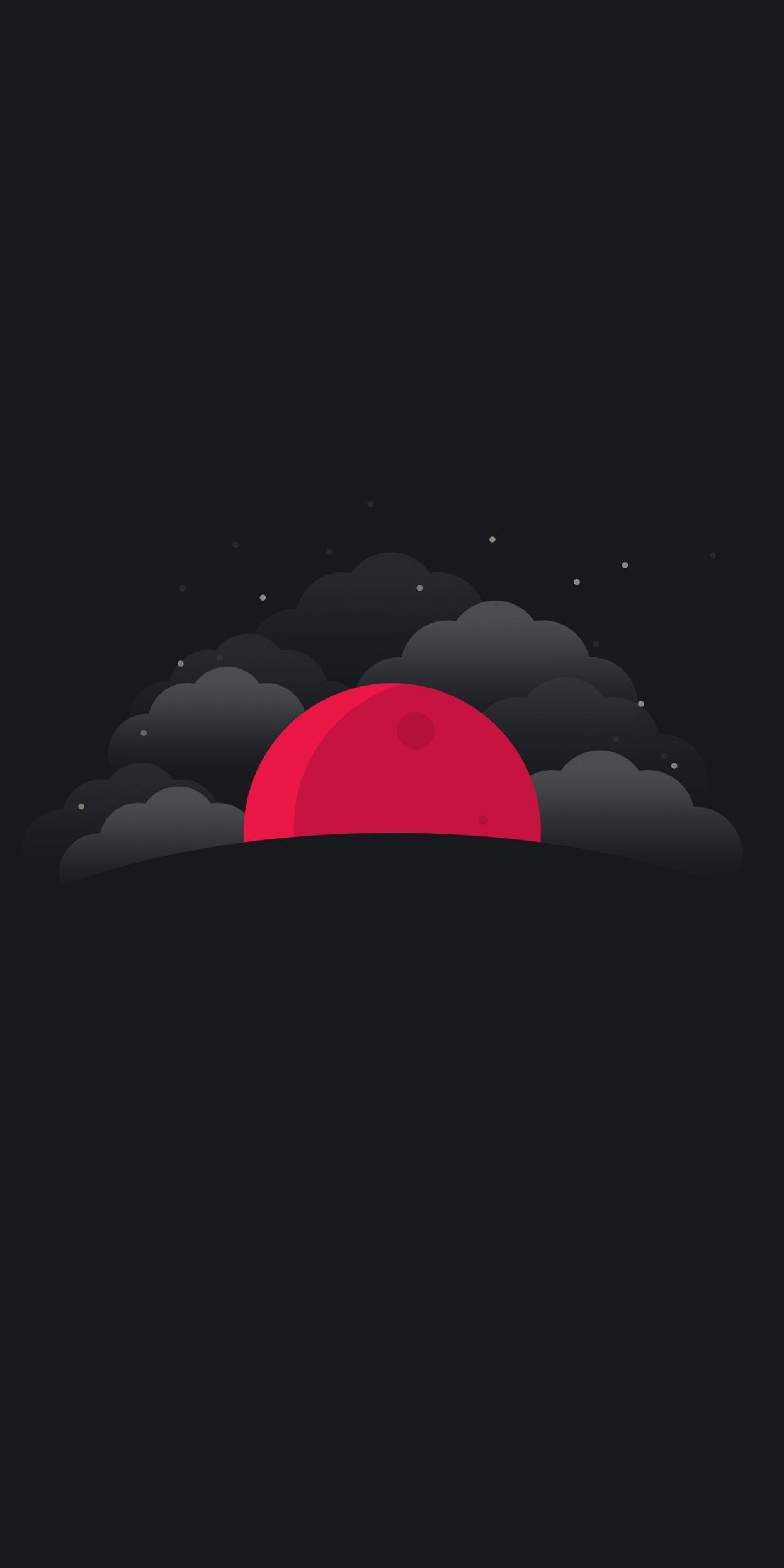 Moon Clouds iPhone Wallpaper