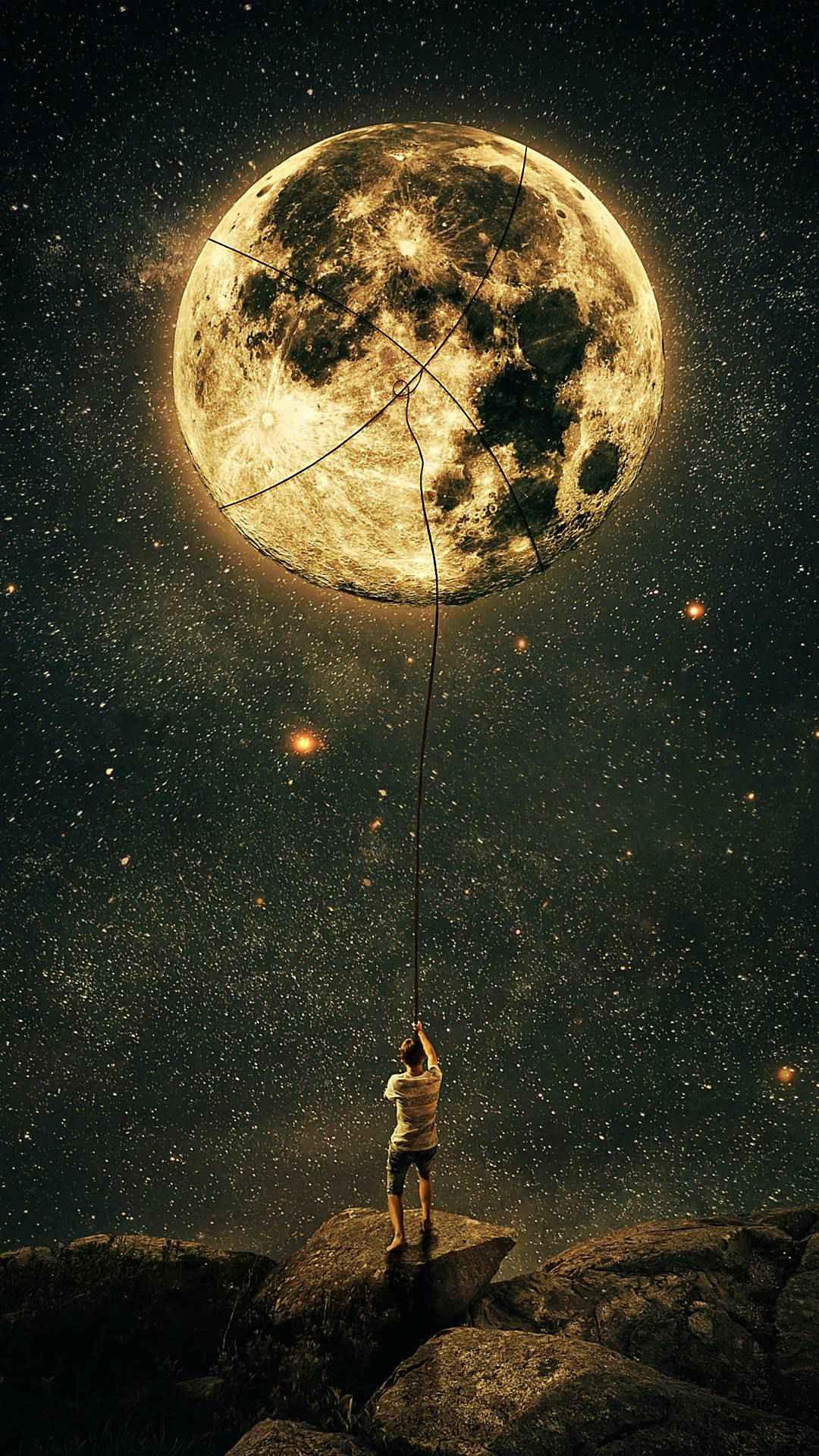 Moonlight night iPhone Wallpaper