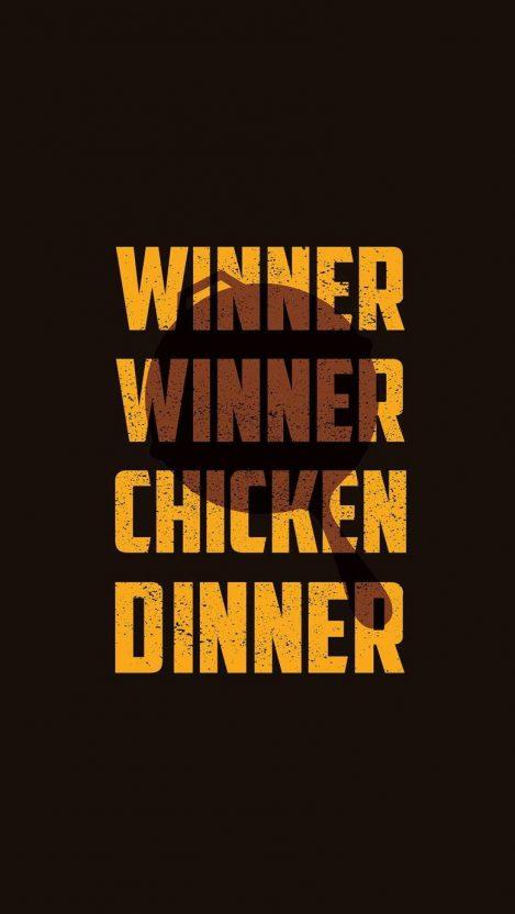 PUBG Chicken Dinner iPhone Wallpaper